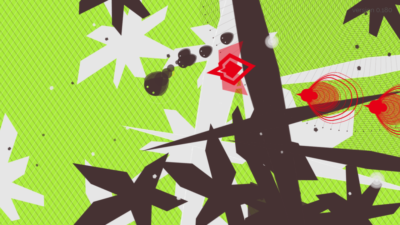 Screenshot of EXPOSURE, a game of camouflage. This level is Nature going into Synthesis.
